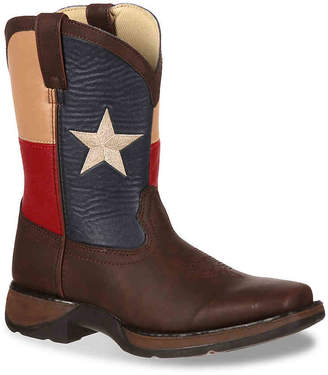 Durango Texas Flag Toddler & Youth Cowboy Boot - Boy's