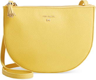 Ted Baker Suzzane Semi Circle Double Zip Leather Crossbody Bag