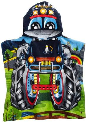 Northpoint Monster Truck Kids Hooded Beach Towel