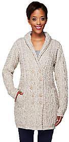 Aran Craft Merino Wool Double Breasted SweaterCoat