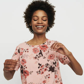 Maje T-shirt with rose print