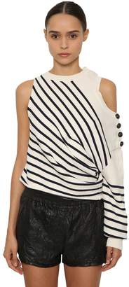 Zadig & Voltaire Zadig&voltaire Striped One Sleeve Knit Sweater