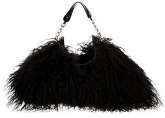 Sonia Rykiel Mongolian Lamb Handle Bag Black Mongolian Lamb Handle Bag