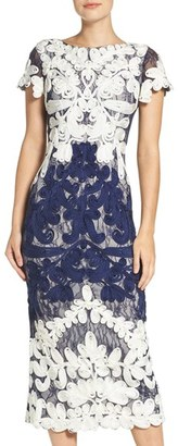 Women's Js Collections Soutache Lace Midi Dress $348 thestylecure.com
