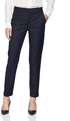 T Tahari Women's Quin Dot Striped Suiting Pant
