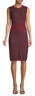 Carolina Herrera Knitted Wool Sheath Dress