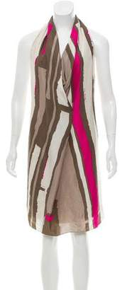 DKNY Patterned Silk Dress