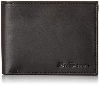 Ben Sherman Kensington Sheepskin Leather Five Pocket Billfold Wallet With ID Window With RFID