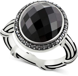 Peter Thomas Roth Onyx (8-2/3 ct. t.w.) & Black Spinel Ring in Sterling Silver