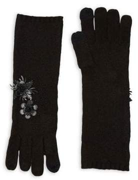 Lauren Ralph Lauren Flower Applique Gloves