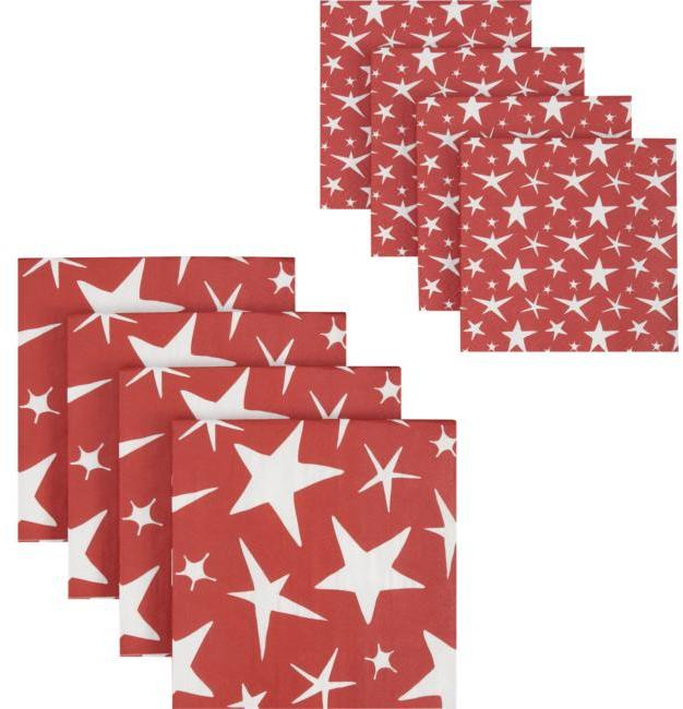 Star Paper Napkins Set of 16