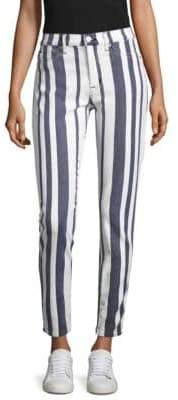 Hudson Barbara Striped Skinny Jeans
