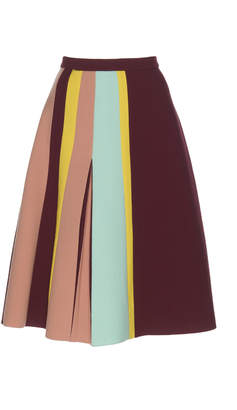 DELPOZO Flared Pleated Skirt