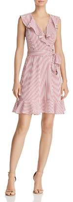 Lucy Paris Amelio Striped Faux-Wrap Dress - 100% Exclusive