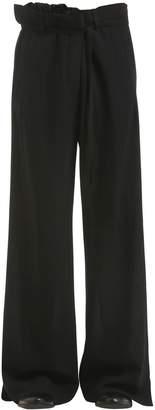 Ann Demeulemeester Wide Leg Virgin Wool Pants