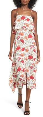 Women's Lush Floral Print Ruffle Midi Dress $55 thestylecure.com