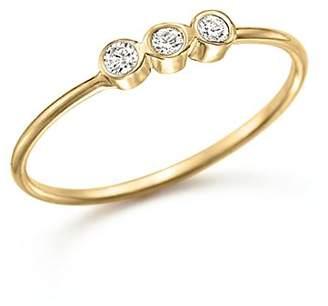 Rachel Zoe Zoë Chicco 14K Yellow Gold and Diamond Bezel-Set Ring