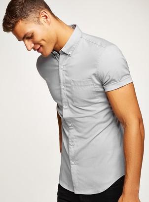 TopmanTopman Grey Stretch Skinny Oxford Shirt