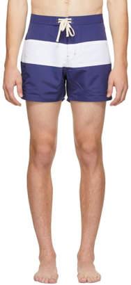 Saturdays NYC Blue and White Grant Swim Shorts