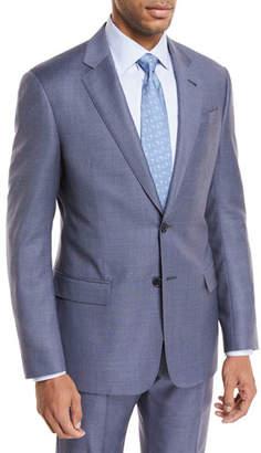 Giorgio Armani Micro-Check Wool Two-Piece Suit