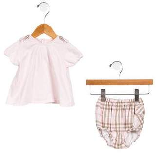 Burberry Girls' Printed Two-Piece Dress Set
