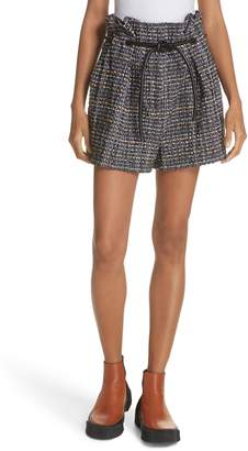 3.1 Phillip Lim Paperbag Waist Tweed Shorts
