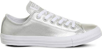 Converse Allstar low-top metallic leather trainers