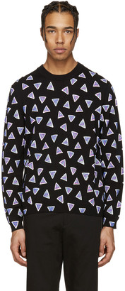 Kenzo Black Allover Triangle Sweater $305 thestylecure.com