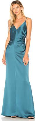 Halston Slip Dress With Side Gathers