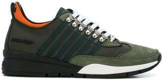DSQUARED2 striped lace-up sneakers