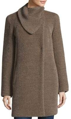 Cinzia Rocca Asymmetric Envelope Swing Car Coat