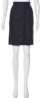 Sonia Rykiel Striped Linen Skirt