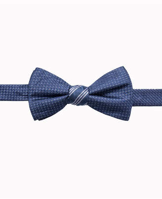 Ryan Seacrest Distinction Men's Reversible Stripe/Neat Two Side To-Tie Silk Bow Tie, Created for Macy's