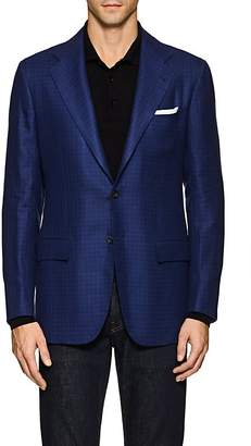 Kiton Men's KB Checked Linen-Cashmere Two-Button Sportcoat