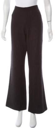 St. John Mid-Rise Wide-Leg Pants