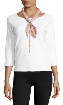Collection 18 Tassel-Accented Bandana Scarf Necklace