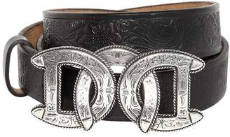 DSQUARED2 30mm Dd Buckle Leather Western Belt