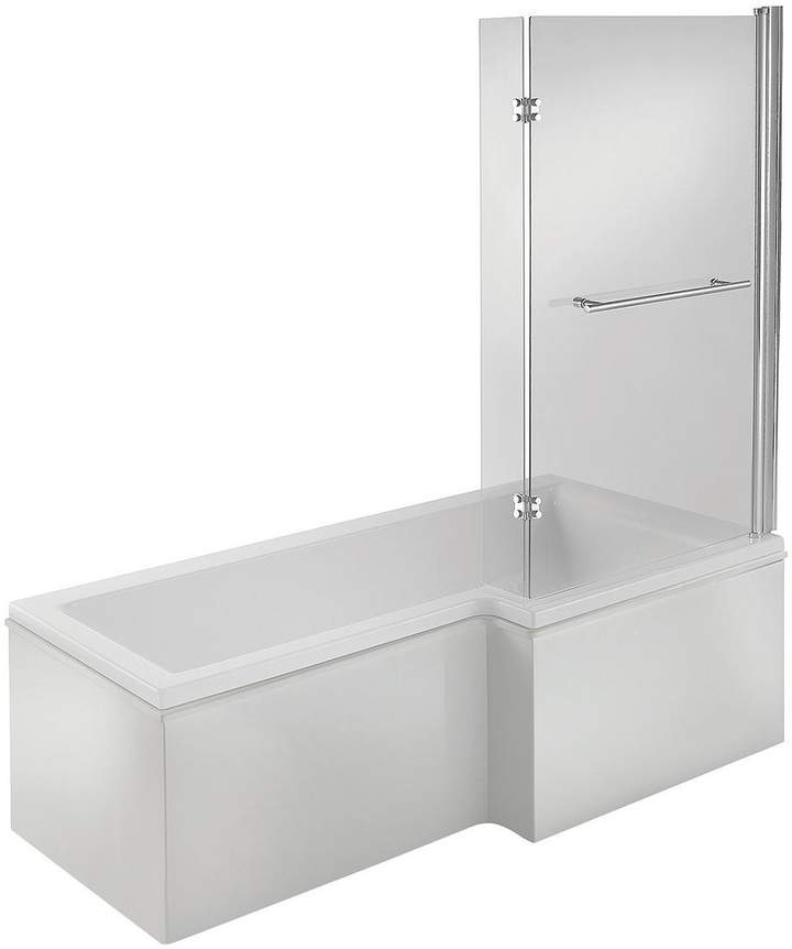 L-Shape Right Hand Bath And Shower Screen