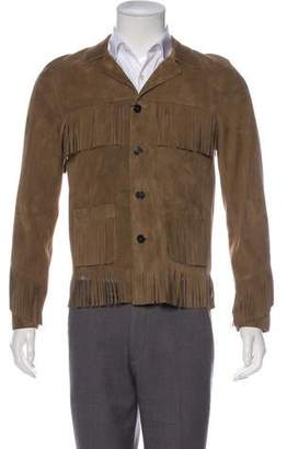 Saint Laurent Curtis Suede Fringe Jacket w/ Tags