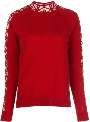 Fendi embroidered trim jumper