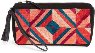 Mercado Global Ines Embroidered Clutch