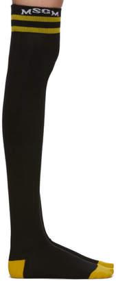 MSGM SSENSE Exclusive Black and Yellow High School Socks