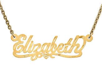 FINE JEWELRY Personalized 13x35mm Diamond-Cut Scroll Name Necklace