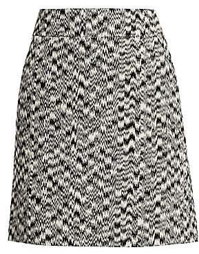 Akris Punto Women's Ikat Printed A-Line Skirt