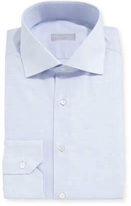 Stefano Ricci Solid Pique Dress Shirt