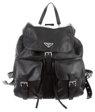 b1216073b7a5 ... bags singapore buy online 3f159 5b803  best price pre owned at  therealreal prada soft calf backpack d8df2 5a89c