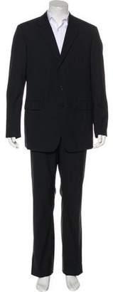 Prada Striped Wool & Silk Suit