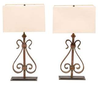 Pair of Iron Table Lamps
