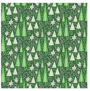 Snowy Trees Self-Launch Wrapping Paper