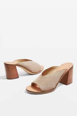 Topshop Netty Block Heel Mule Sandals
